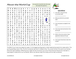 ESL World Cup Football Games & Printable Exercises